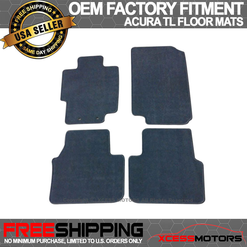 Fits 04-08 Acura TL Floor Mats Carpet Front & Rear Gray