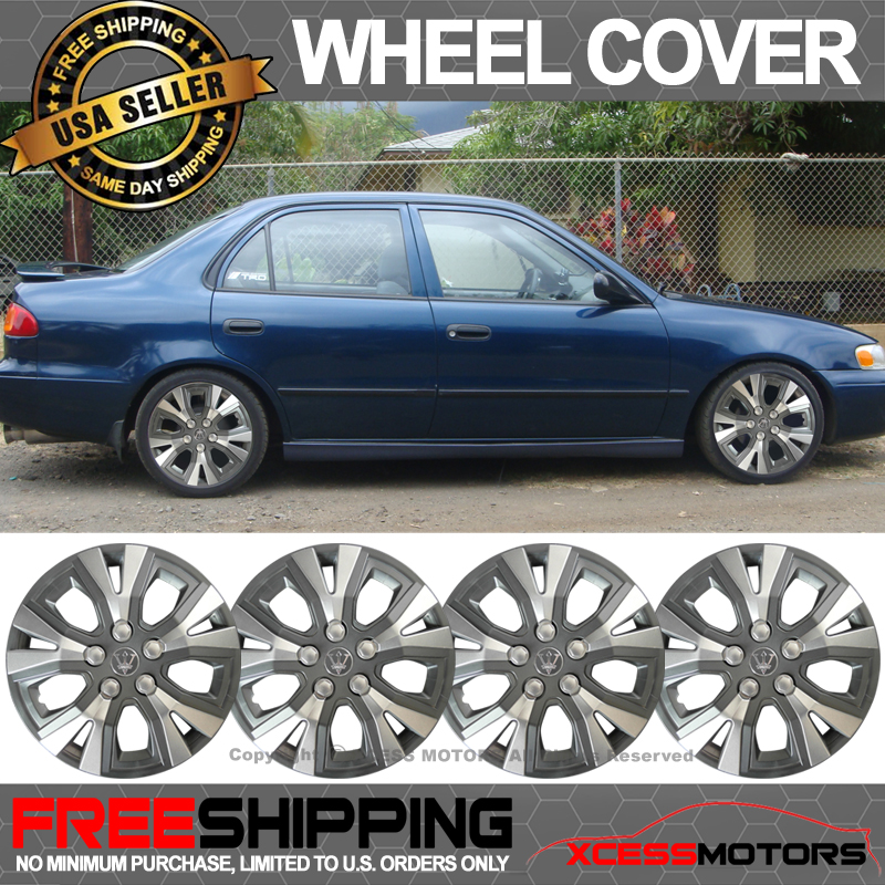 Fits Universal 14 Inch Hub Caps Hubcap Wheel Cover Tire Skin Covers 4PC