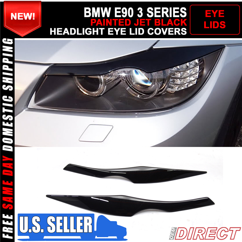 2006-2011 BMW 3-Series E90 4DR Sedan Front Headlight Eyebrows Painted#300