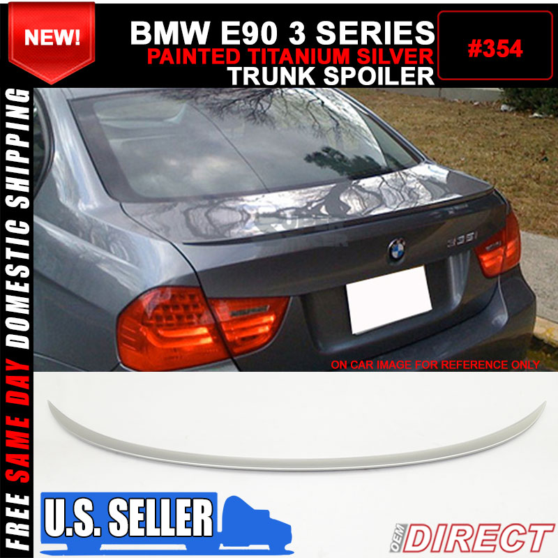 06-11 BMW E90 OE Style Color Code #354 Painted Trunk Spoiler