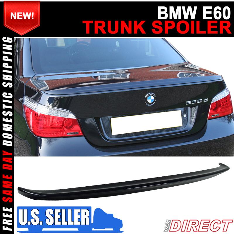 Fits 04-10 BMW 5 Series E60 Sedan AC Trunk Spoiler Painted #475 Black Sapphire