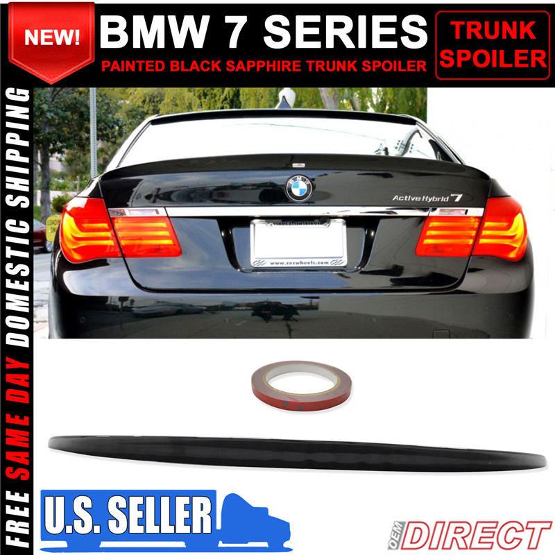 Details about 09-15 BMW 7 Series F01 AC Style Trunk ABS Spoiler Painted  Black Sapphire #475