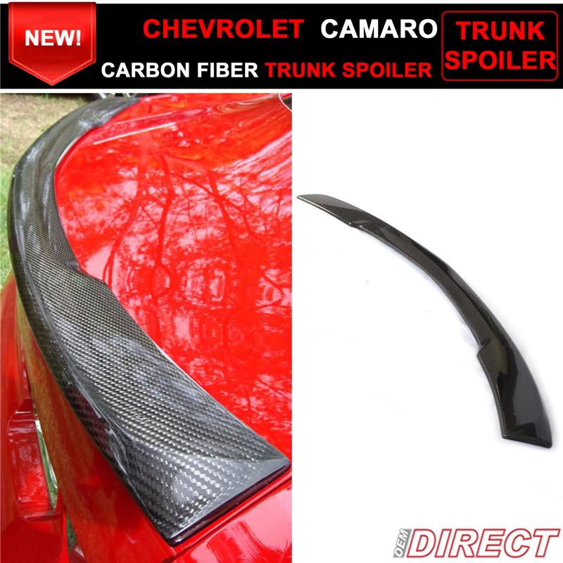 Chevy 10-13 Camaro Lip Spoiler Rear Trunk Tail Wing LS LT SS Unpaint