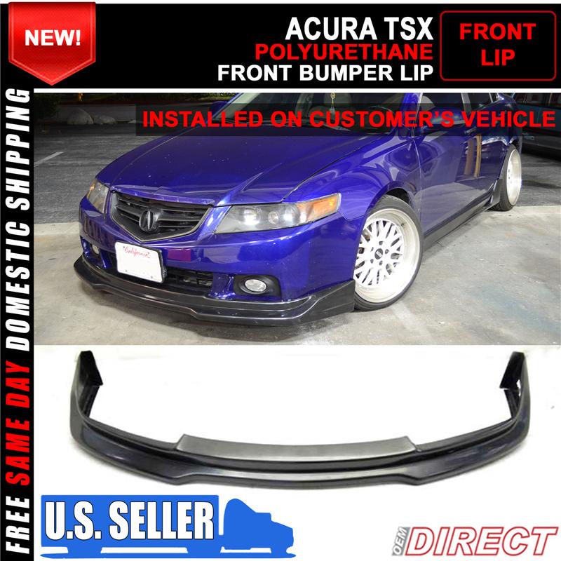 For Acura TSX P Style Front Bumper Lip Unpainted Poly - Acura tsx front bumper