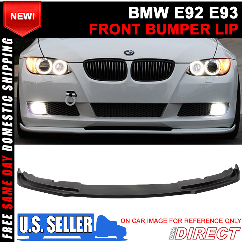 7caf8919fe7 Details about For 07-10 BMW E92 E93 Pre Lci 3 Series Coupe H Style Front Lip  Chin Spoiler