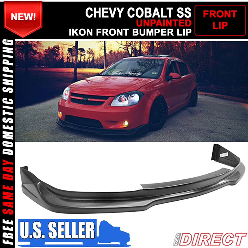 Details about For 05-10 Chevy Cobalt Ss Coupe & Sedan Ikon Front Bumper Lip  Chin Spoiler