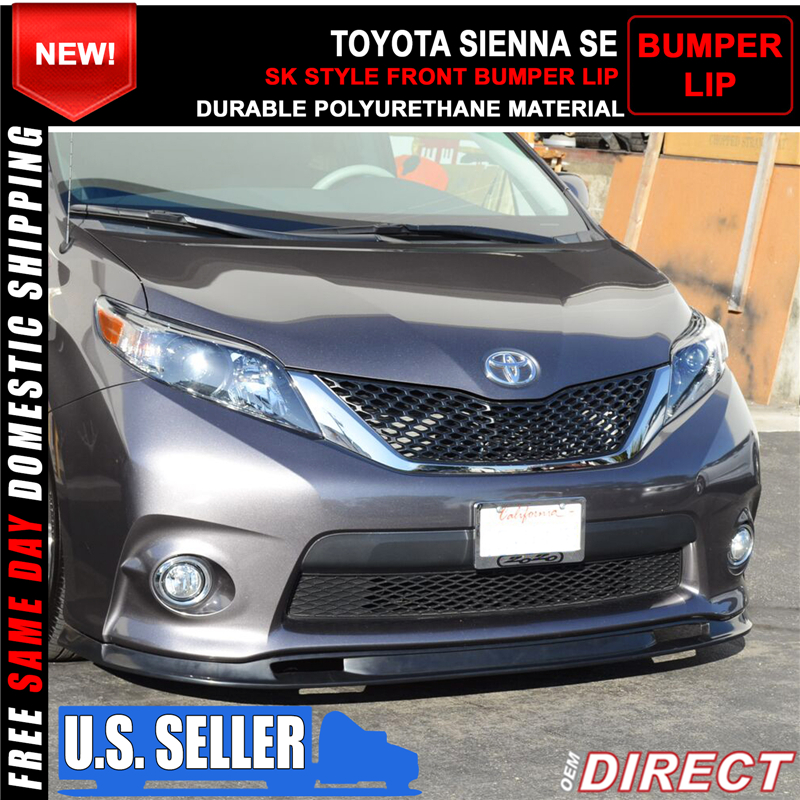 2016 Toyota Sienna Exterior: For 11-16 Toyota Sienna SE Only Sk Style Front Bumper Lip
