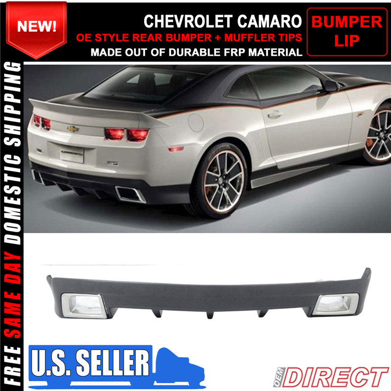 for 10 13 chevy chevrolet camaro oe style rear bumper cover lip muffler tips 848524078538 ebay. Black Bedroom Furniture Sets. Home Design Ideas