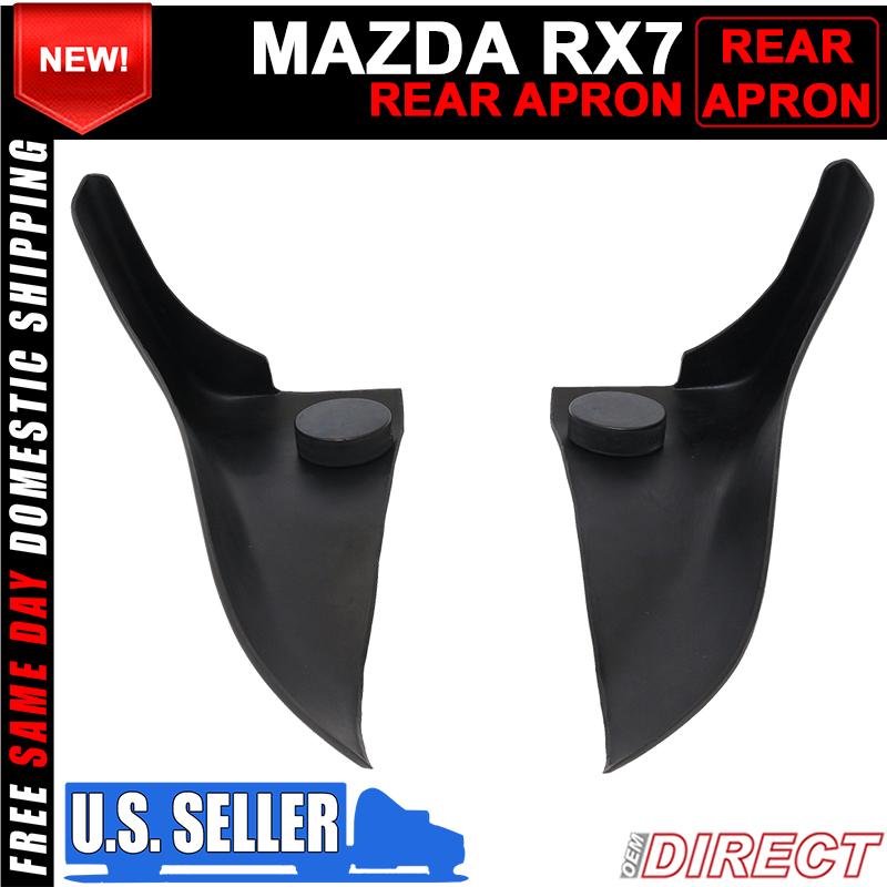 For 86-91 Mazda RX7 FC3S Unpainted Rear Bumper Spats Aprons Splash Guards Pair