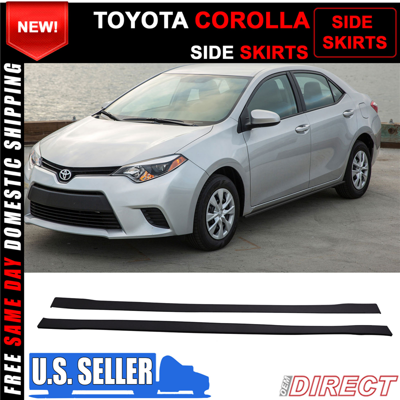 For Toyota Camry L LE XLE SE Corolla Side Skirts Extensions Lip Splitter 78.7/'/'
