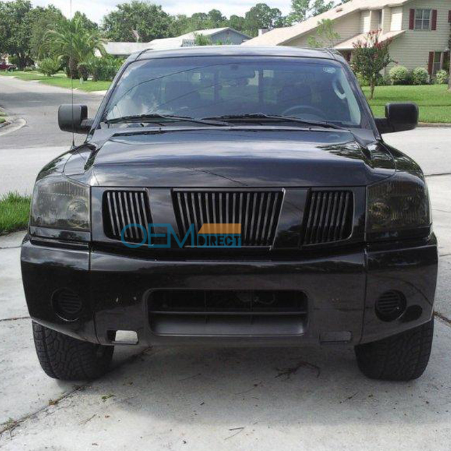 Fit For 04 07 Nissan Armada Titan Front Hood Black Grill