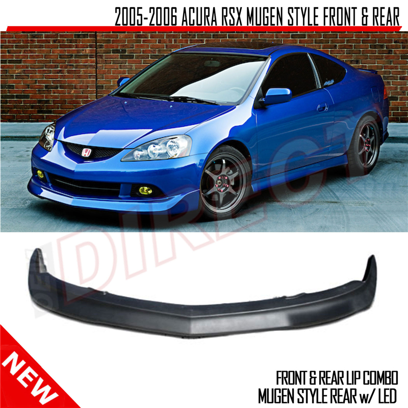 05-06 Acura RSX 2Dr Mugen Style Front And Rear Lip Combo W