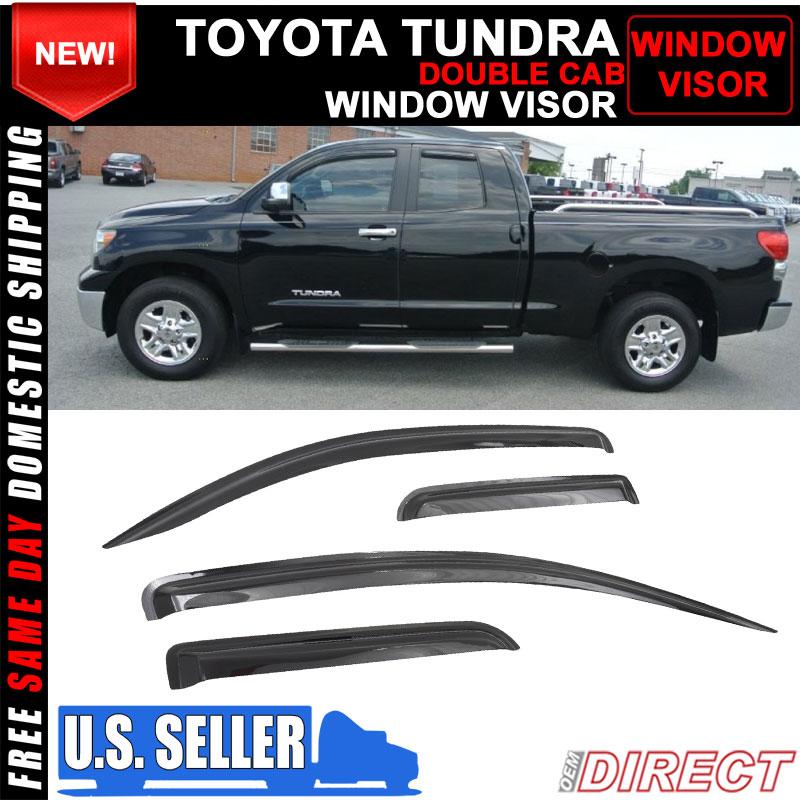 Fits 07-19 Toyota Tundra Standard Cab Slim Style Acrylic Window Visors 2Pc Set