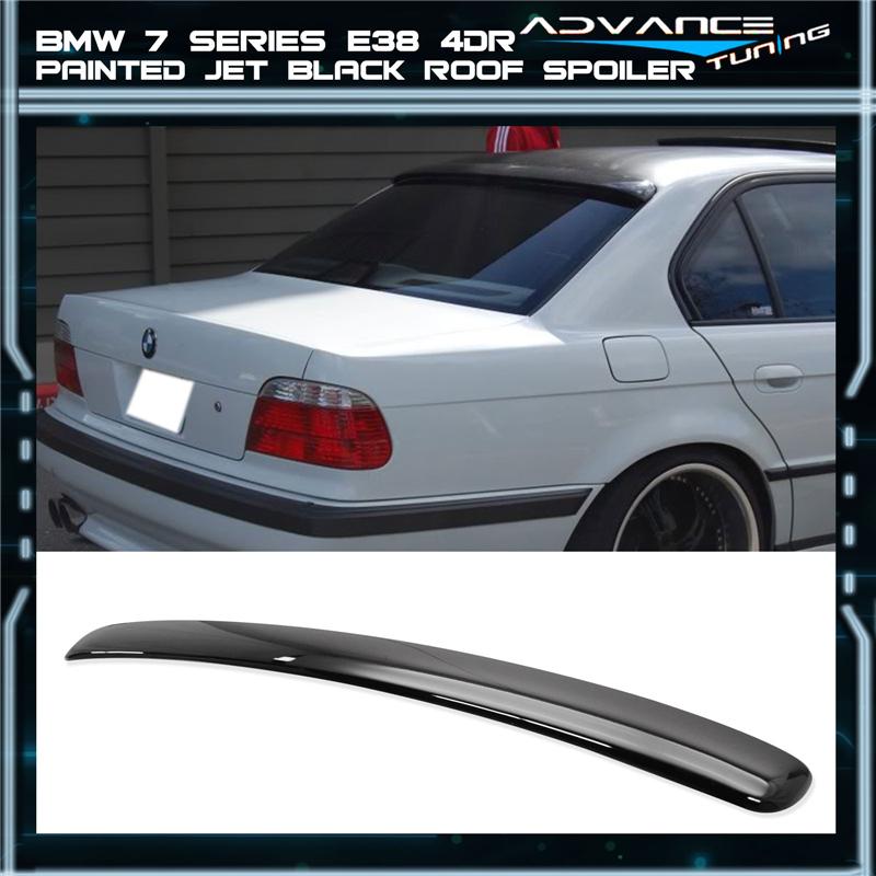Fits 95-01 BMW 7 Series E38 Sedan AC ABS Roof Spoiler Painted Jet Black #668