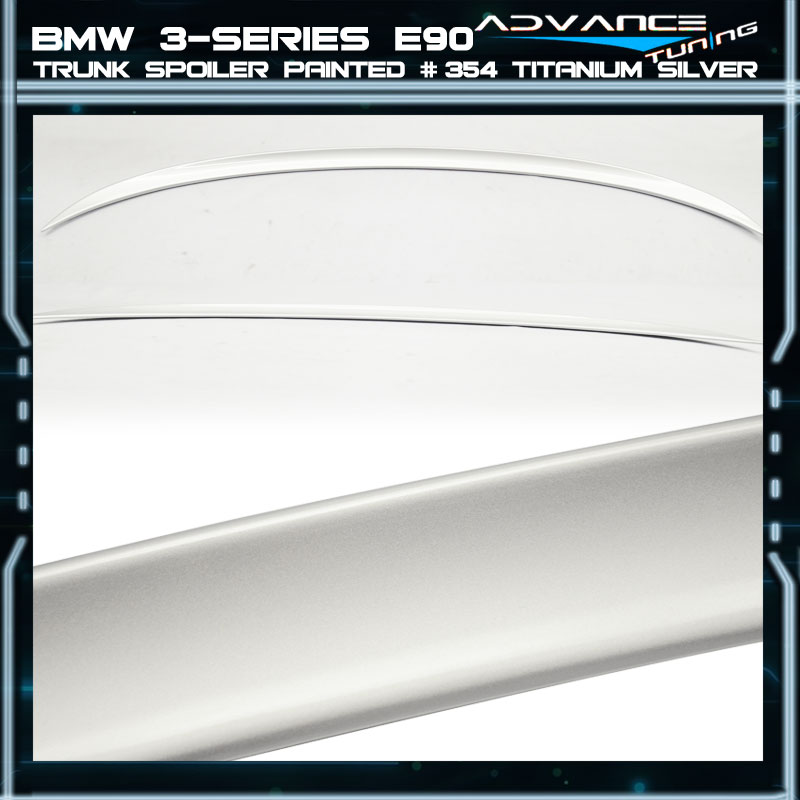 Bmw 354 Paint: 06-11 BMW 3-Series E90 Trunk Spoiler OEM Painted Color