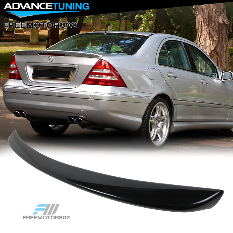 01-07 BENZ C-class W203 ABS AMG Trunk Spoiler OEM Painted Color # 040 Black