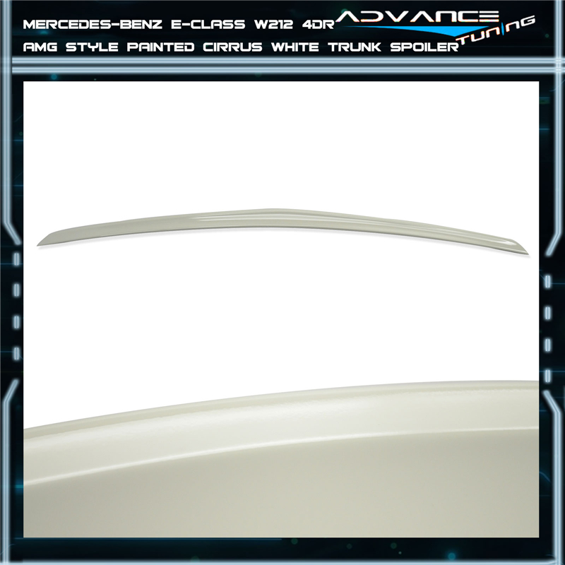 10-16 Benz E Class W212 4Dr AMG Style #650 Cirrus White Painted Trunk Spoiler