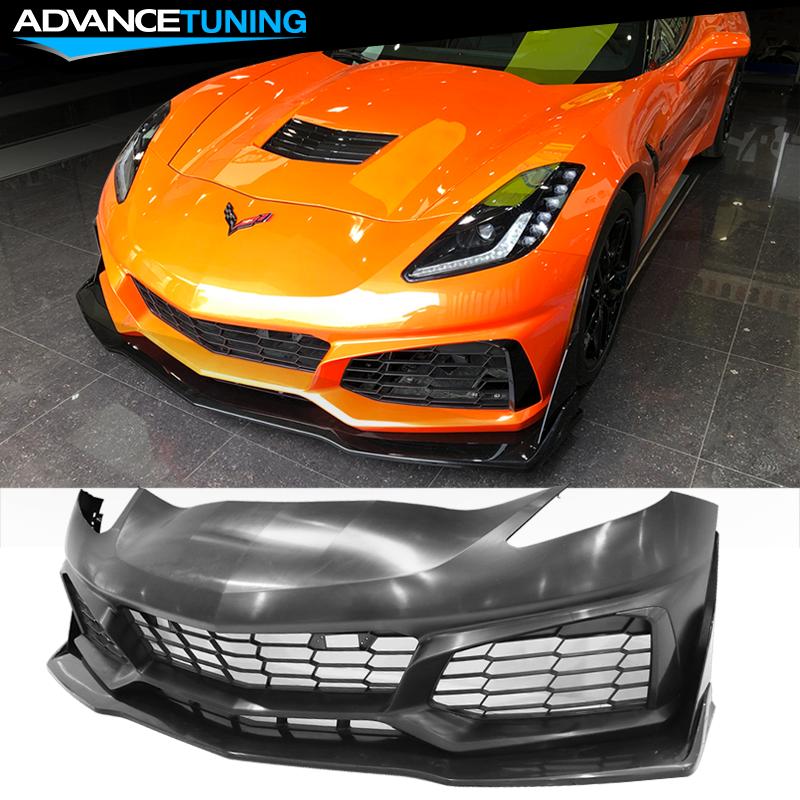 Corvette C7 Zr1 >> Details About Fits 14 18 Chevy Corvette C7 Zr1 Style Front Bumper Conversion Pp