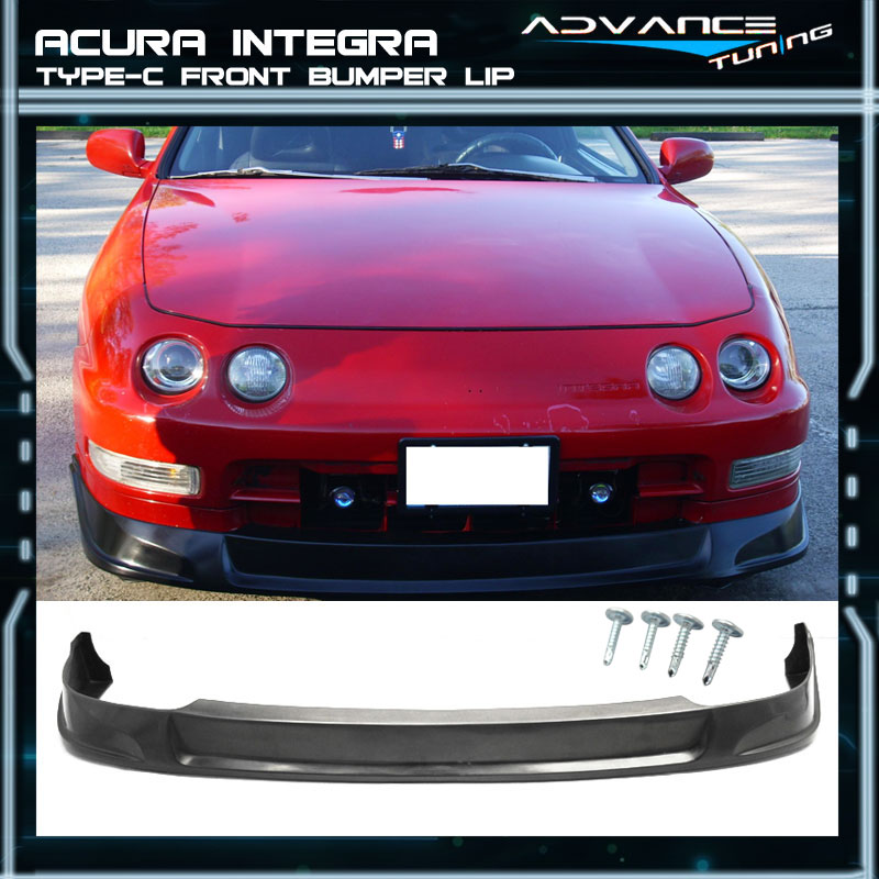 94 95 96 97 Poly-Urethane Type-C Front Bumper Lip Spoiler Fits Acura Integra