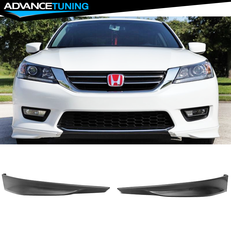 Fits 13-15 Honda Accord HFP Style Front Rear Bumper Lip Splitter 4PCS