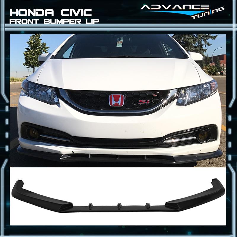 V3 Style Gloss Black Front Lip Chin Spoiler 2PC IKON MOTORSPORTS Front Bumper Lip Compatible With 2019-2020 Honda Civic