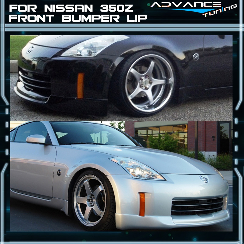 nissan 350z 2015 black. fit for 0608 nissan 350z black front bumper lip spoiler ings fairlady z z33 350z 2015 0