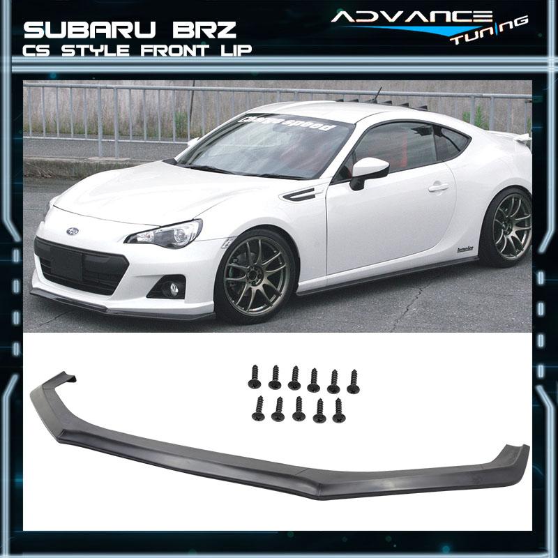 TC Sportline BO-SUBR131221 TYPE-STI Polyurethane PU Front Bumper Lip Spoiler for 2013-2015 Subaru BRZ