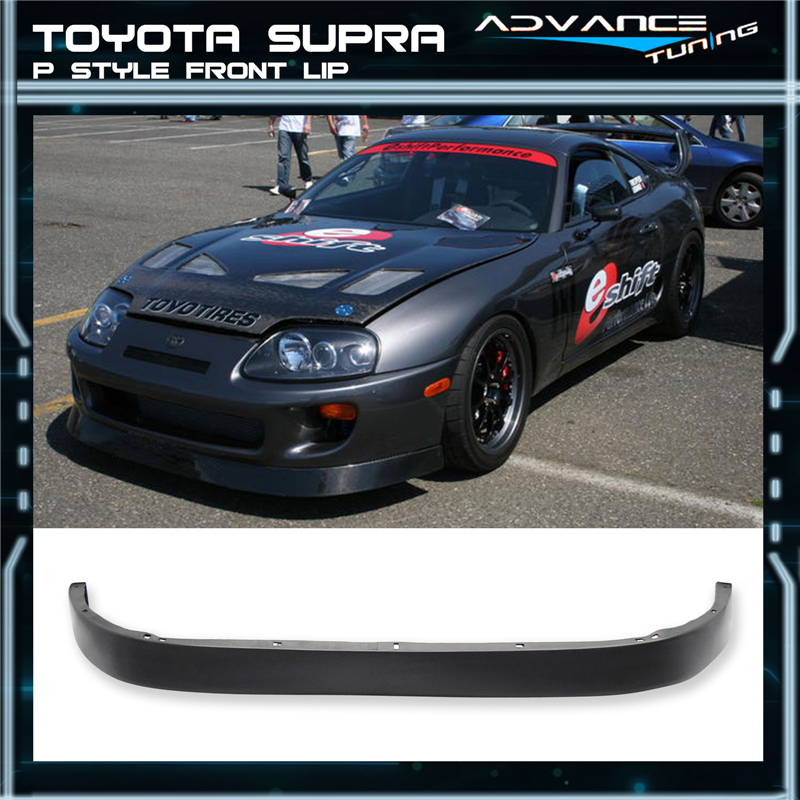 93 98 toyota supra p style front bumper lip spoiler. Black Bedroom Furniture Sets. Home Design Ideas