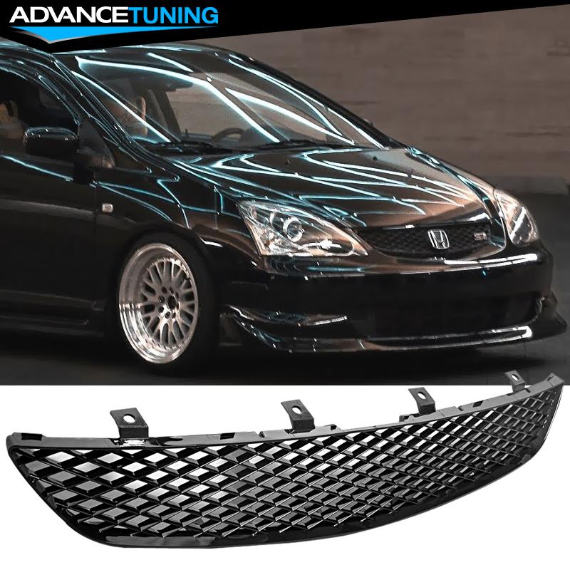 For 02 05 Honda Civic Ep3 Si Hatchback Front Hood Upper Grill Grille