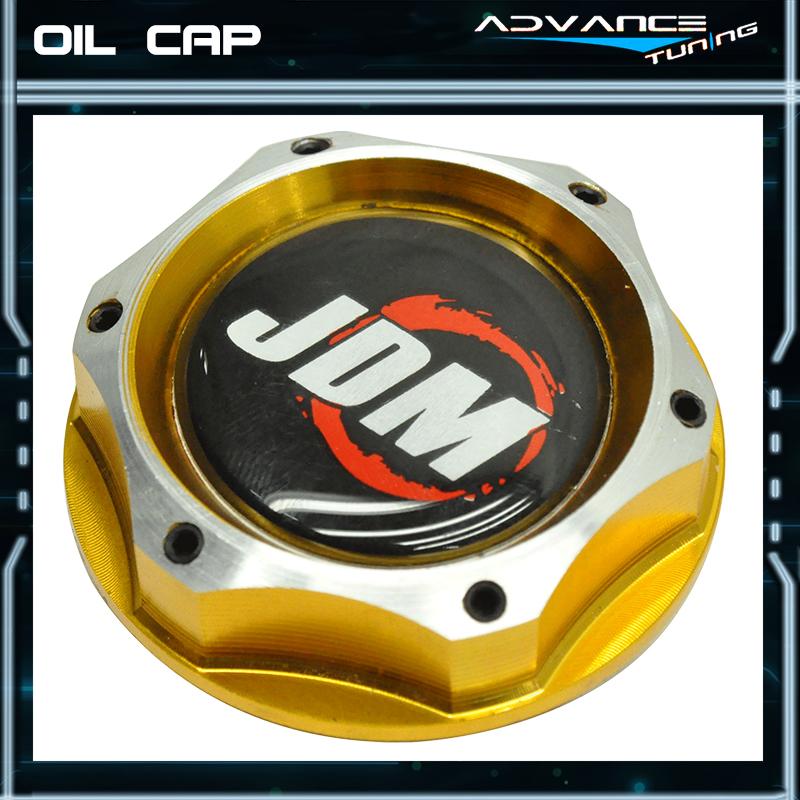 Fit Aluminum Blue Chrome 2 Tone Twist On Engine Oil Filler Cap Cover Honda Acura