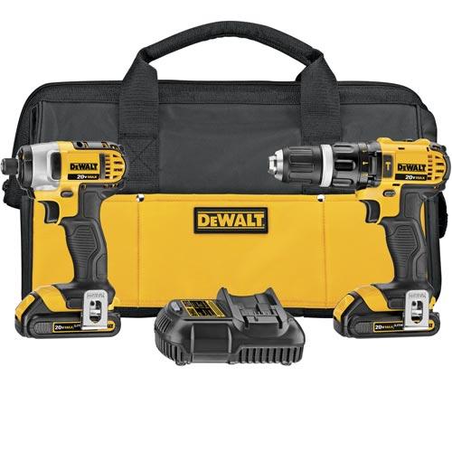 DeWALT-DCK285C2-20V-MAX-1-2-034-Lithium-Ion-Hammer-Drill-Impact-Driver-Tool-Kit