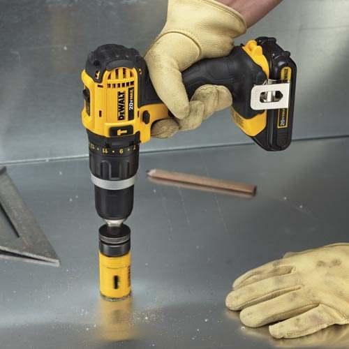 DeWALT-DCK285C2-20V-MAX-1-2-034-Lithium-Ion-Hammer-Drill-Impact-Driver-Tool-Kit thumbnail 2