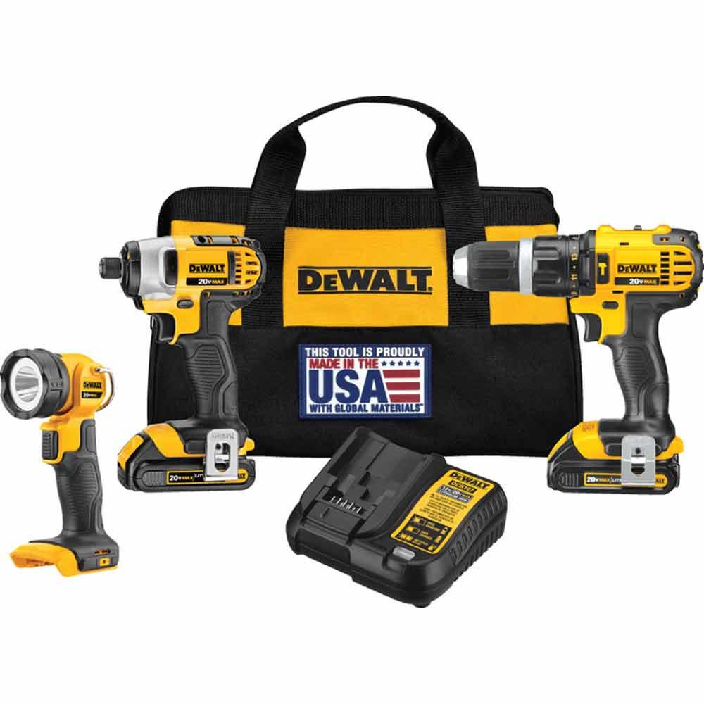 Dewalt Dck384c2 20v Max Li Ion Drill Impact Flashlight