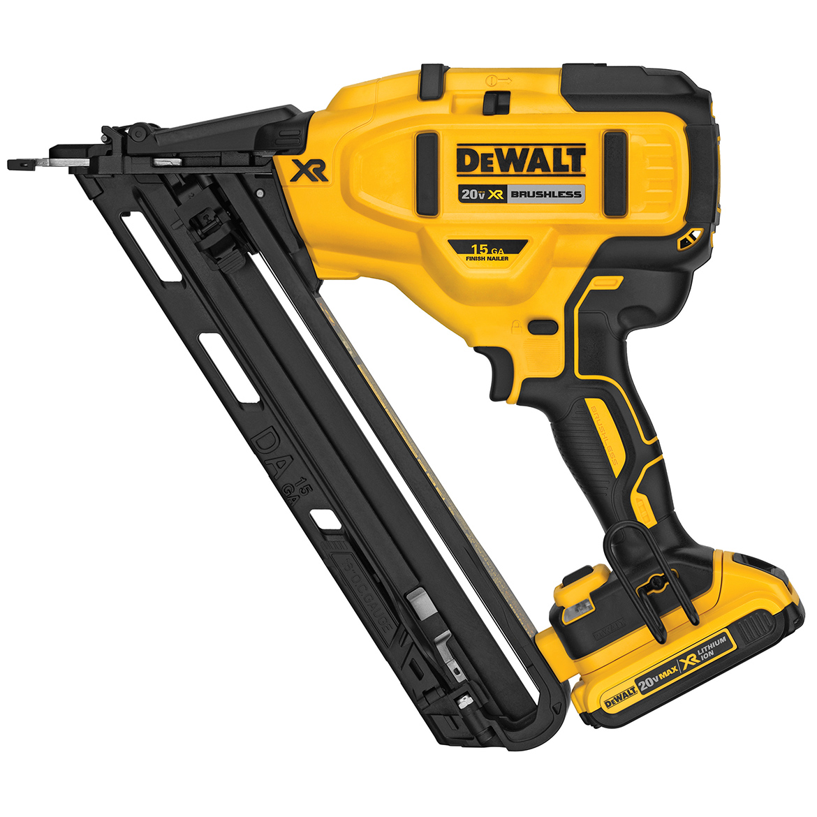 Details About Dewalt Dcn650d1 20 Volt 15 Gauge Cordless Angled Finish Nailer Kit