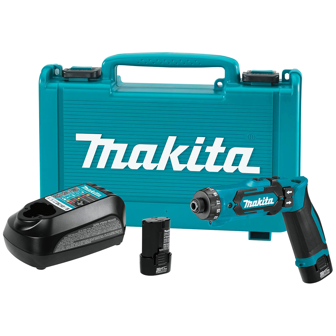 Details about Makita DF012DSE 7 2-Volt 1/4-Inch Auto-Stop Clutch Cordless  Hex Driver-Drill Kit
