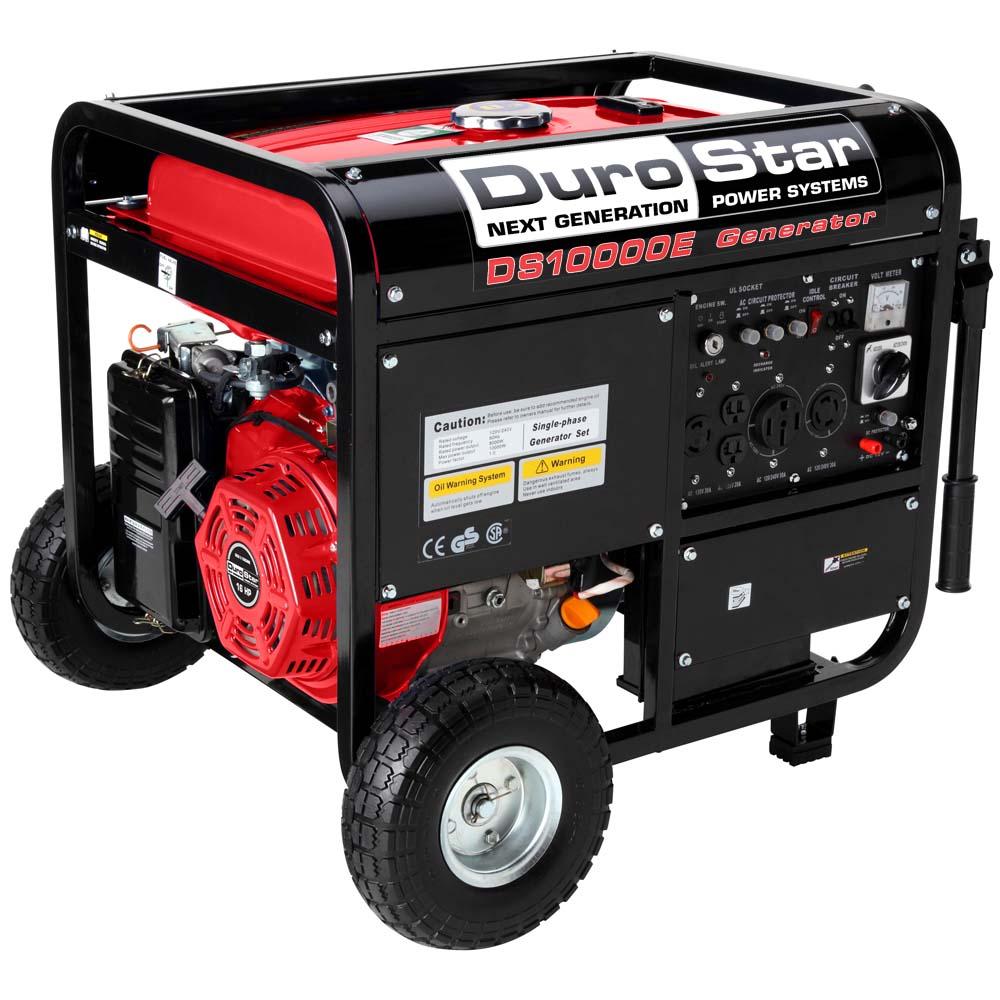 electric generators. durostar 10000w portable gas electric start generator standby camping ds10000e generators 0