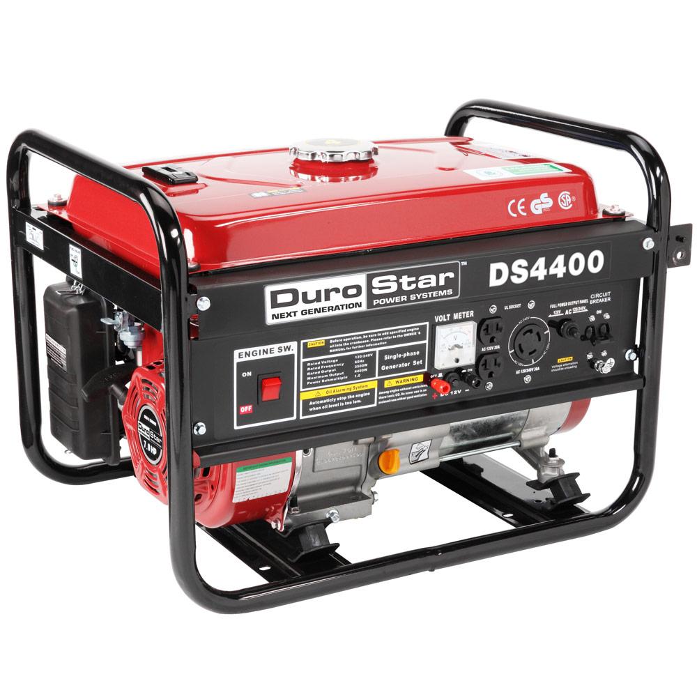 durostar 4400 watt quiet portable recoil start gas powered generator rv ds4400 811640013073 ebay. Black Bedroom Furniture Sets. Home Design Ideas