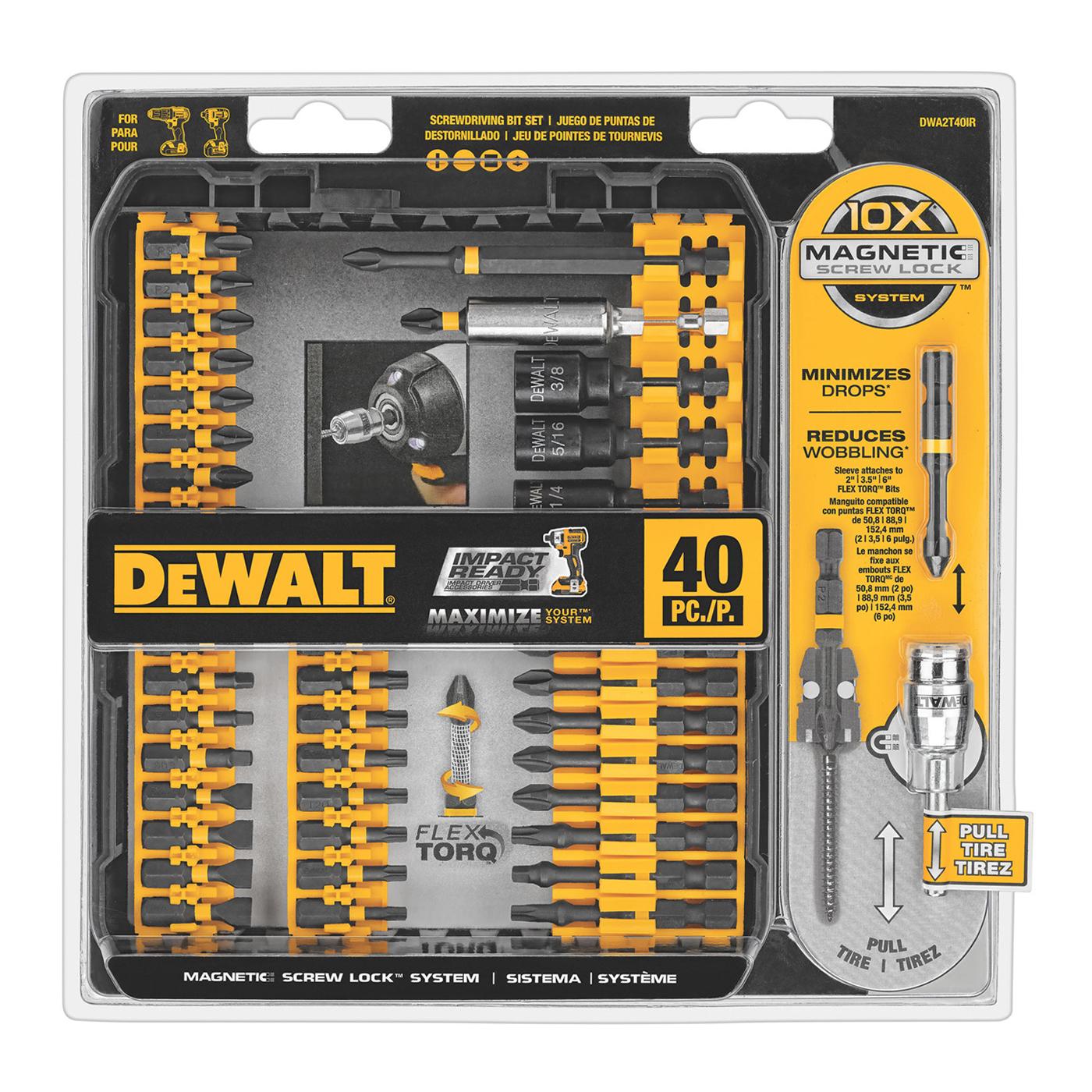 dwa2t40ir  1 - Dewalt 40 PC Impact Ready set Screw lock set