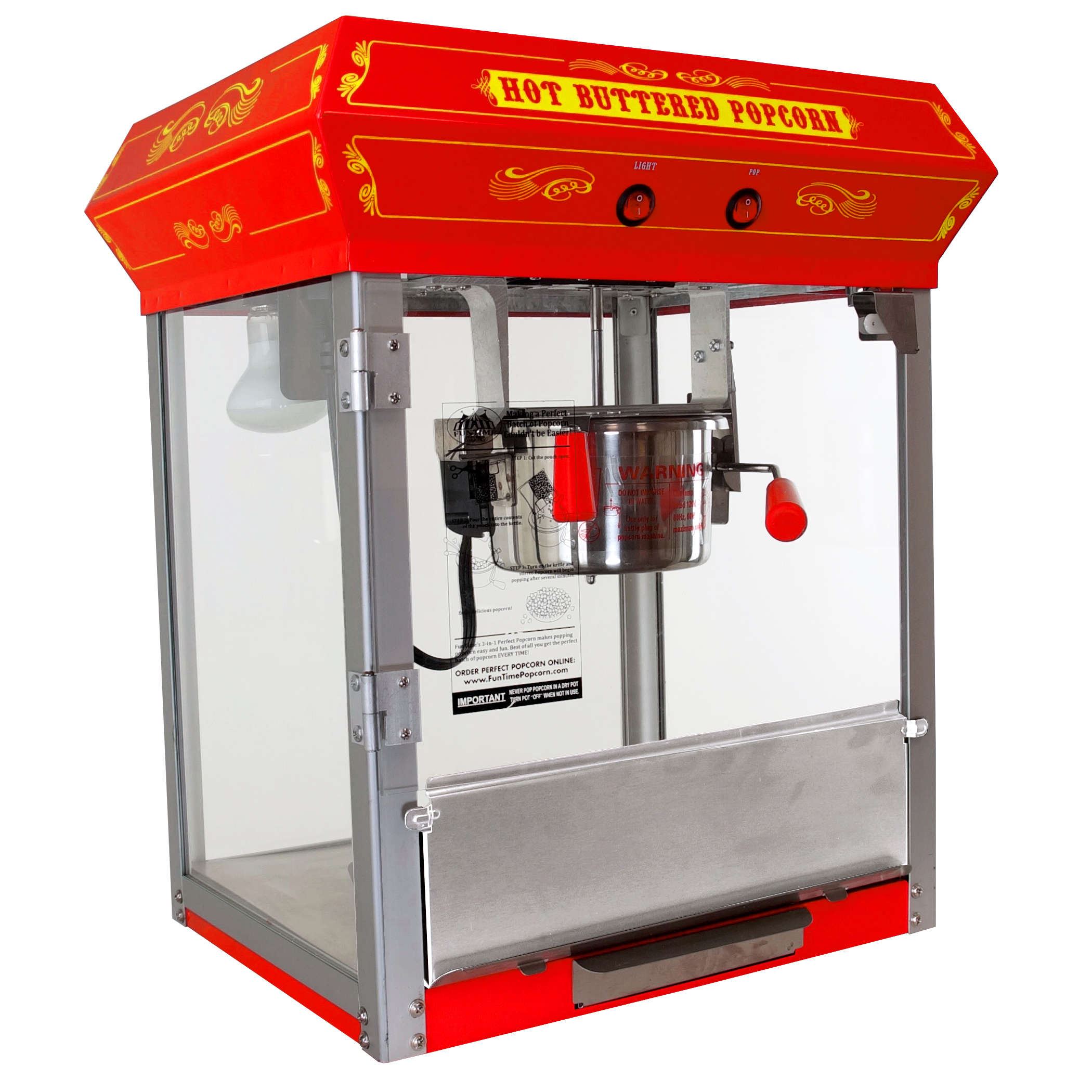 Genial FunTime 4oz Red Bar Table Top Popcorn Popper Maker Machine   FT421CR