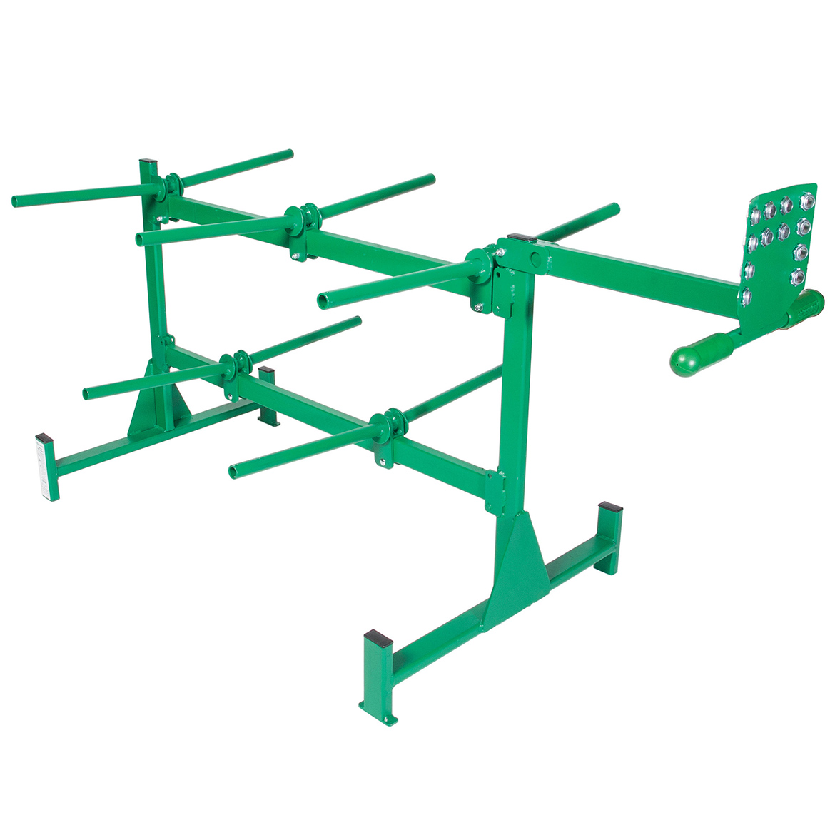 Greenlee 910 Heavy Duty Steel Wheeled Angled 10-Spindle Wire ...