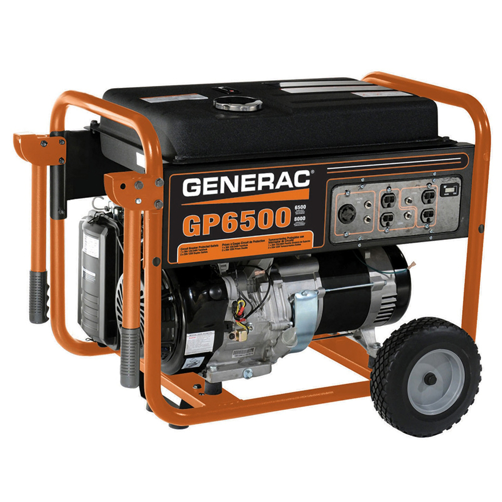 generac 5976 gp6500 6 500 watt recoil start gas powered portable generator csa ebay. Black Bedroom Furniture Sets. Home Design Ideas