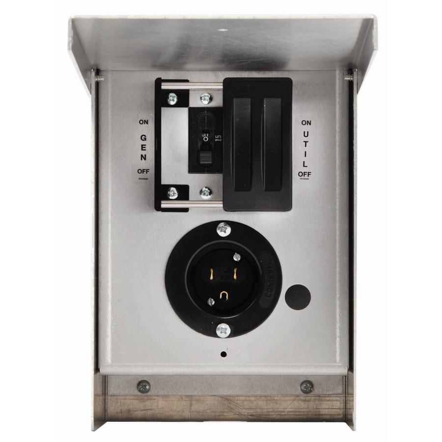 generac 6375 125v 15a single circuit outdoor manual transfer switch rh ebay com manual transfer switch kit for portable generators manual transfer switch kit for portable generators