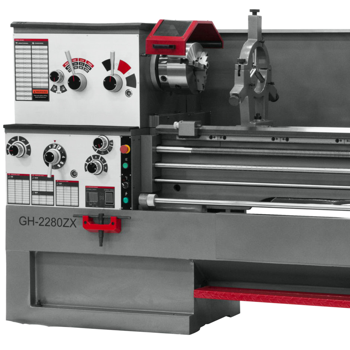 JET GH-2280ZX Large Spindle Bore Lathe With Taper Attachment & Collet Closer