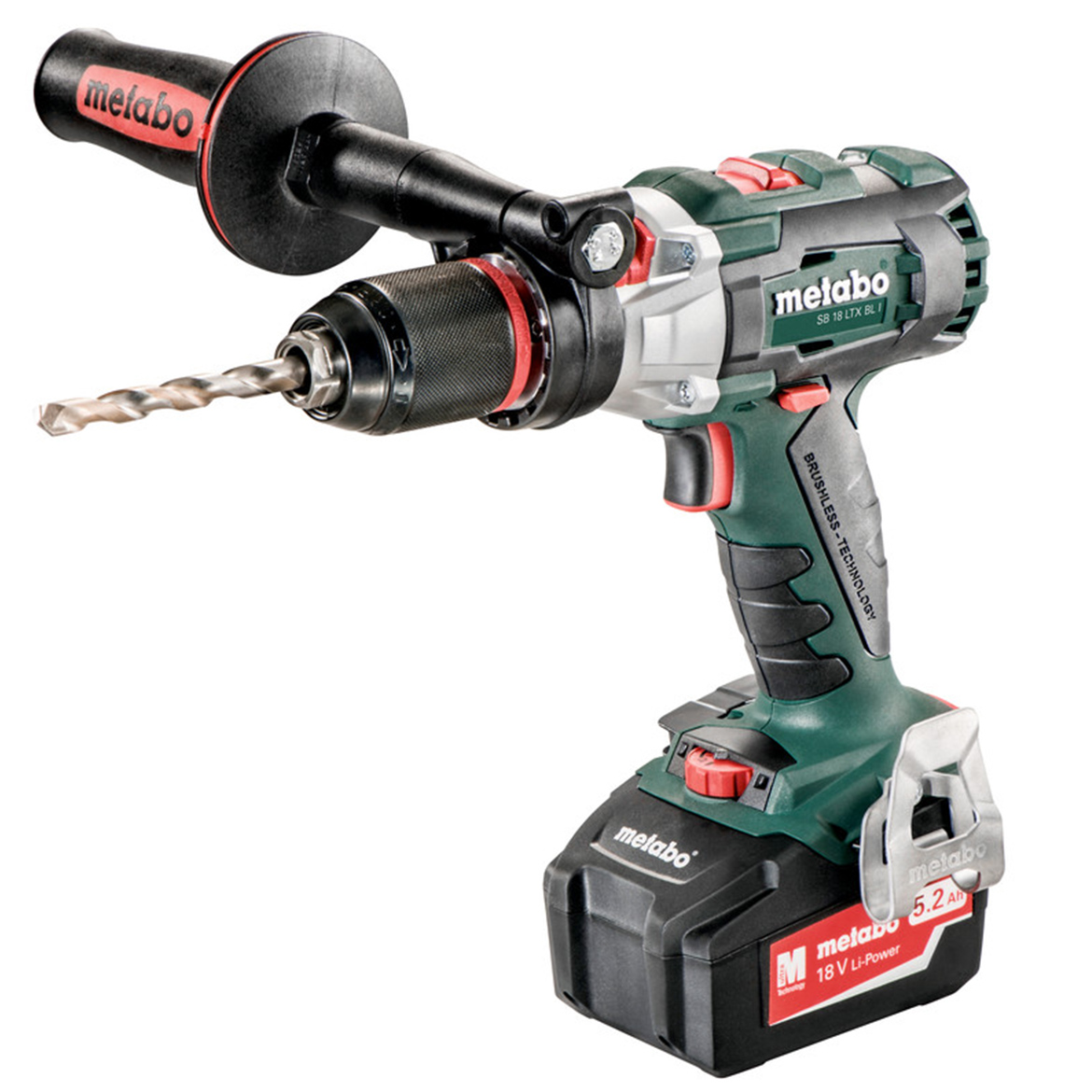 Metabo 602352520 18-Volt 5.2Ah Lithium-Ion Brushless Hammer Drill//Driver Kit