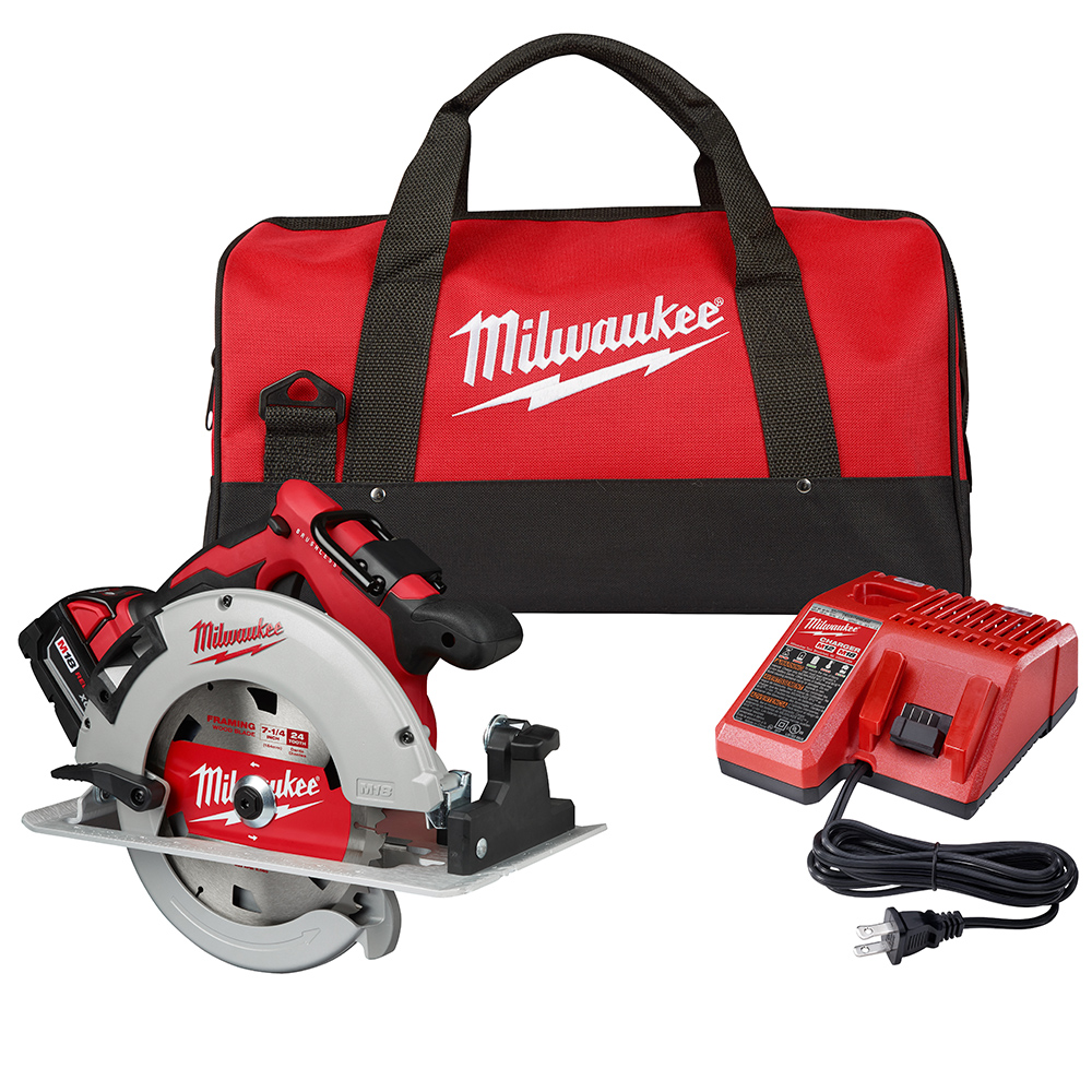 Brushless Cordless Free 5.0 Ah Battery Milwaukee Circular Saw 18-Volt 7-1//4 in