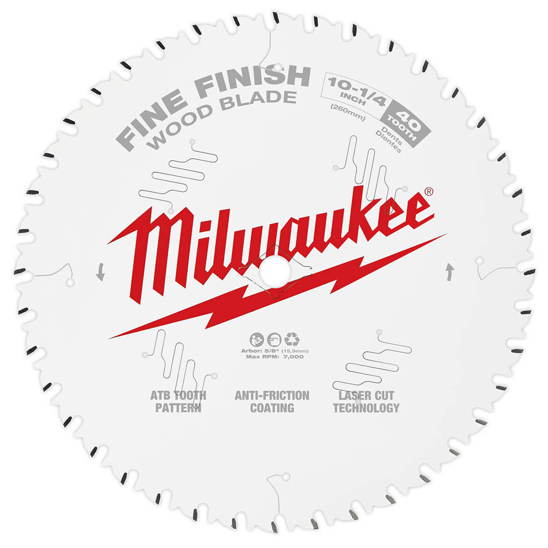 "Milwaukee 48-40-4105 5-3//8/"" 16 Carbide Teeth Circular Saw Blade 2x New"