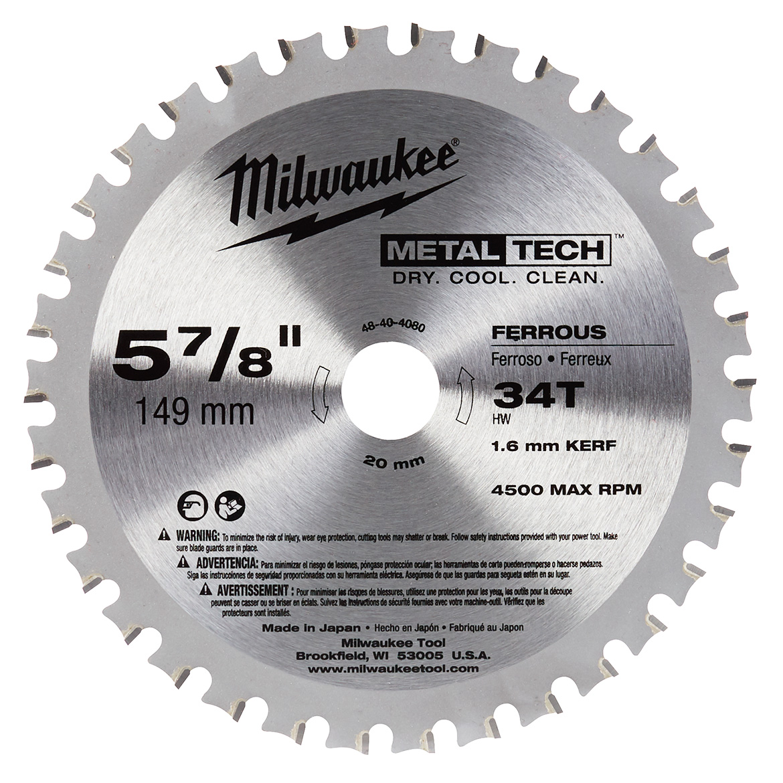 Milwaukee 48 40 4080 5 78 inch 34 tooth ferrous metal circular saw milwaukee 48 40 4080 5 78 inch 34 tooth ferrous metal circular saw blade keyboard keysfo Choice Image