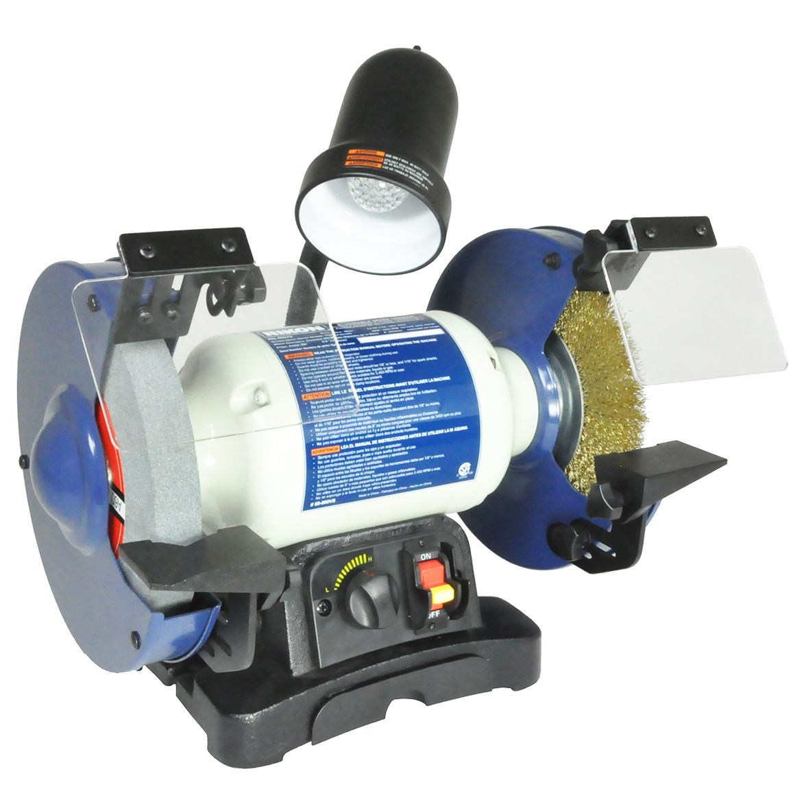 Rikon 80 800vs 8 Inch 3 4 Hp Variable Speed Dual Wheel