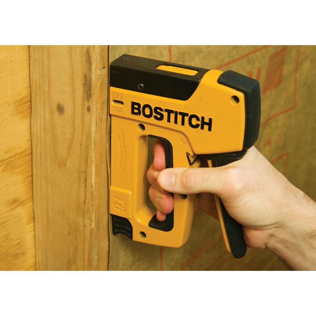 "Bostitch T6-80C2 1//2/"" to 9//16/"" Light Heavy Duty Manual Powercrown Stapler"