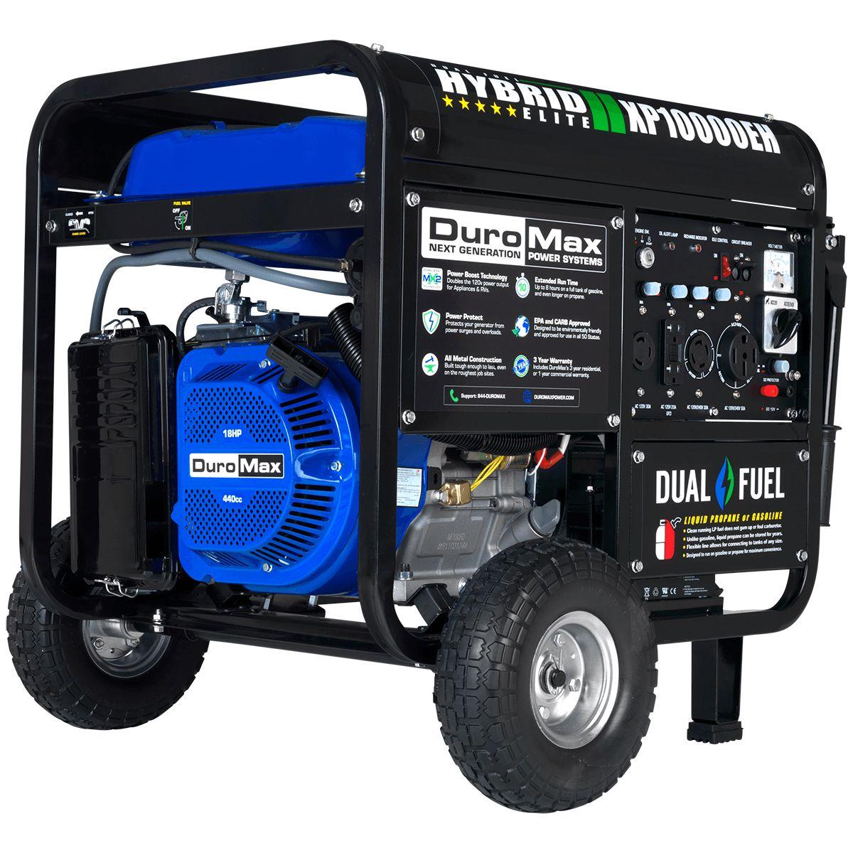 Duromax Xp10000eh 10 000 Watt Electric Start Dual Fuel Hybrid Portable Generator Ebay